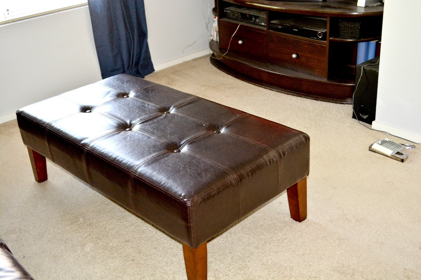 Weekend Tweaks Ottoman Makeover