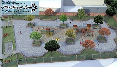 Projeto de praça pública