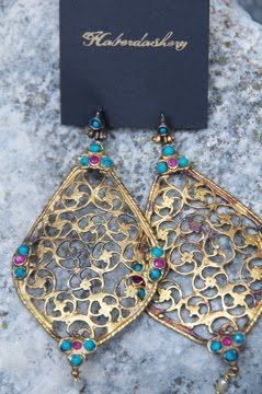 Large filigree earrings!