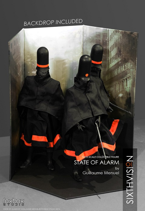 State6 1/6 scale dystopian police officer figures by Foxbox Studio