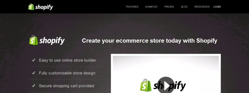 Shopify website builder homepage