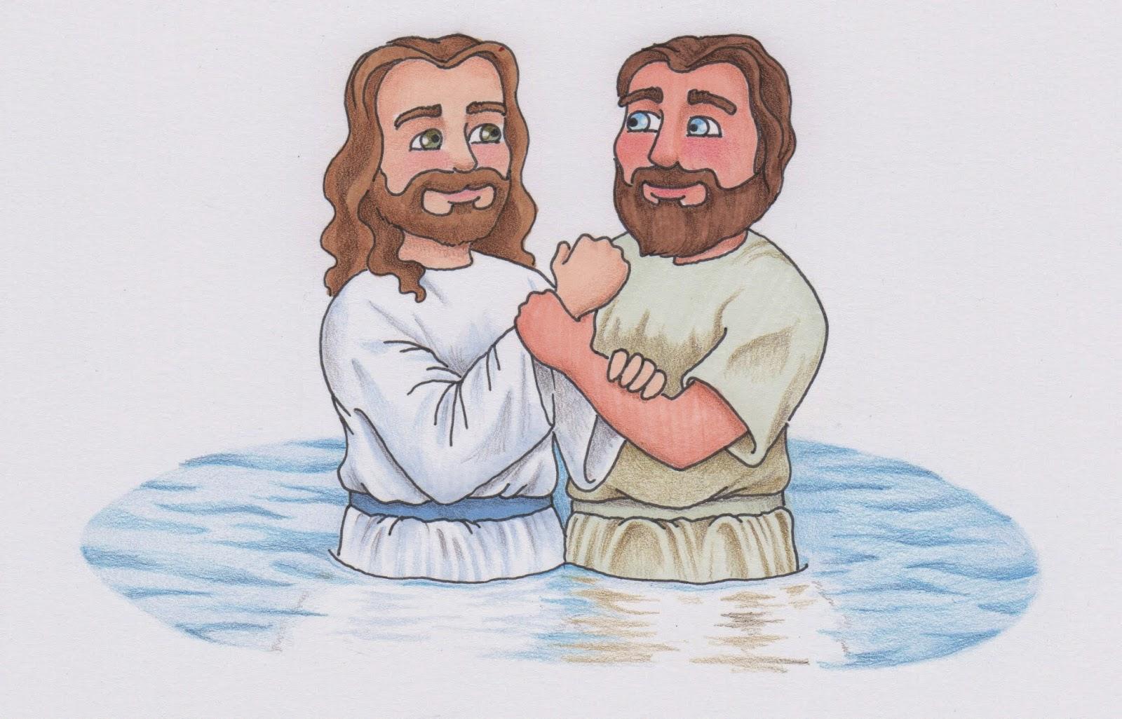John The Baptist And Jesus Clip Art