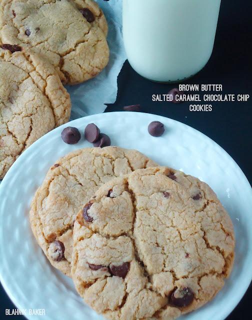 Brown Butter Salted Caramel Chocolate Chip Cookies {Brown Butter Week ...
