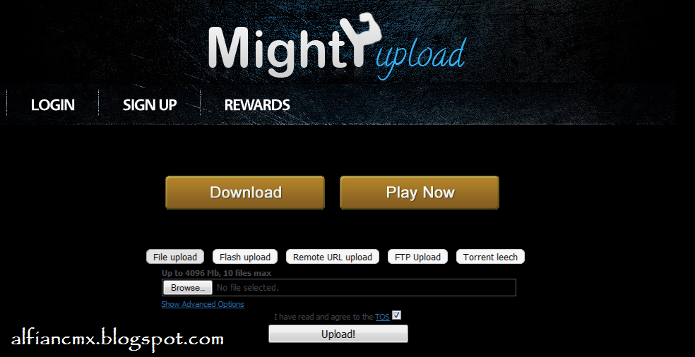 Cara Download di Mightyupload