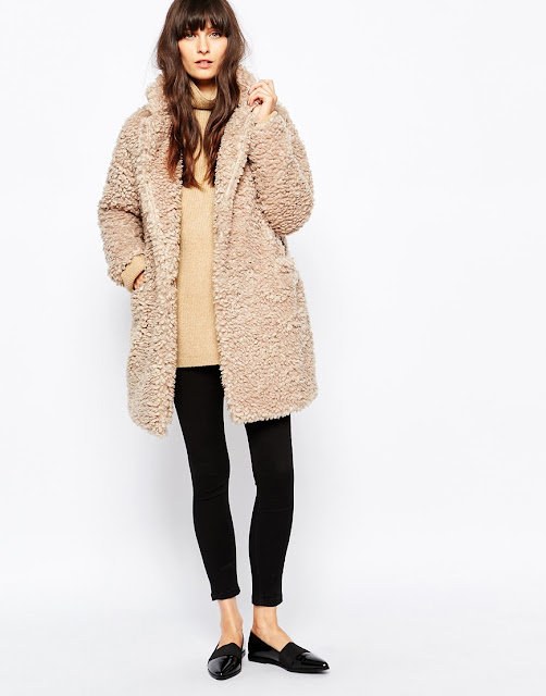 paisie furry coat, beige furry coat, teddy bear coat,