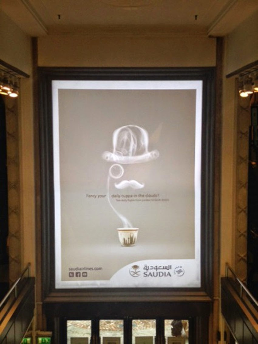 Digital Outdoor Advertising Campaign for Saudia