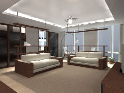 Living Room on White Gypsum False Ceiling Designs For Living Room With Side Hidden