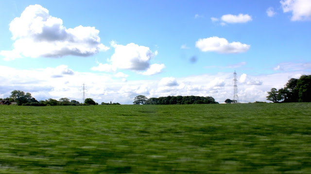 Farmland en route to Blackpool beach