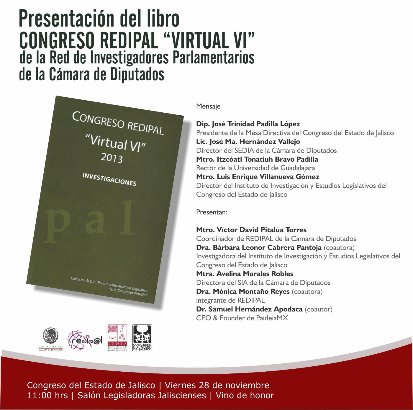Presentación Libro REDIPAL