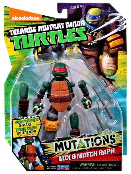 JUGUETES - LAS TORTUGAS NINJA : Mutations  Mix & Match Raph | Raphael | Figura - Muñeco | 2015 Teenage Mutant Ninja Turtles | TMNT | Nickelodeon Producto Oficial 2015 | Playmates- Giochi Preziosi | A partir de 4 años