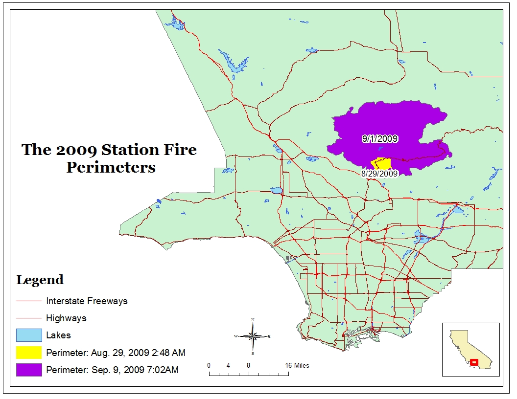 my reference map shows a rough image of the spread of the fire after expanding over the course of three days an important thing to note on the map is the