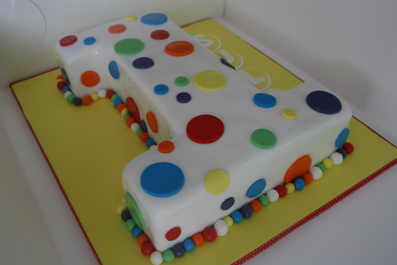 Cake Design Number 1 : Baked By Design: Number 1 Birthday cake