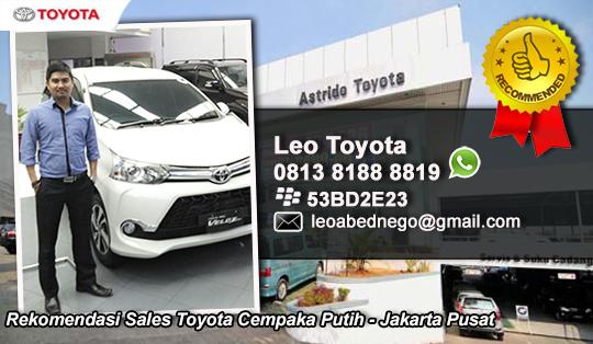 Rekomendasi Sales Toyota Cempaka Putih, Jakarta Pusat