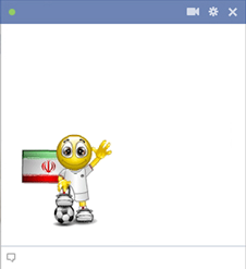 Iran football smiley