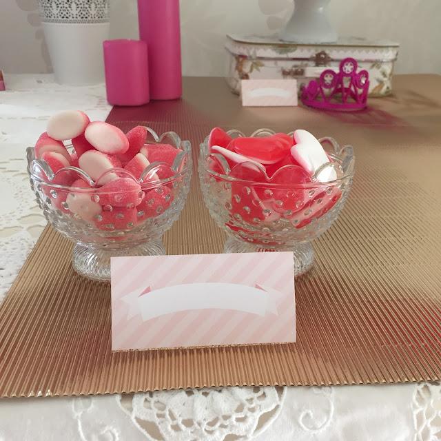 Gomas cor de rosa