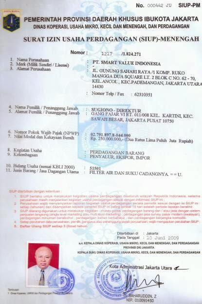 SIUP Surat Izin Usaha Perdagangan Arif Blog II