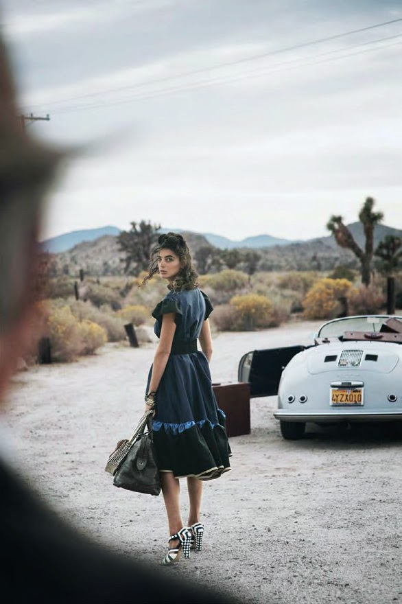 Daria Werbowy by Peter Lindbergh for Vogue US (January 2011)   Ses Rêveries