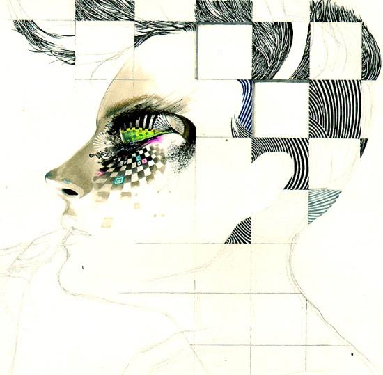 minjae lee retratos mulheres pinturas surreais psicodélica