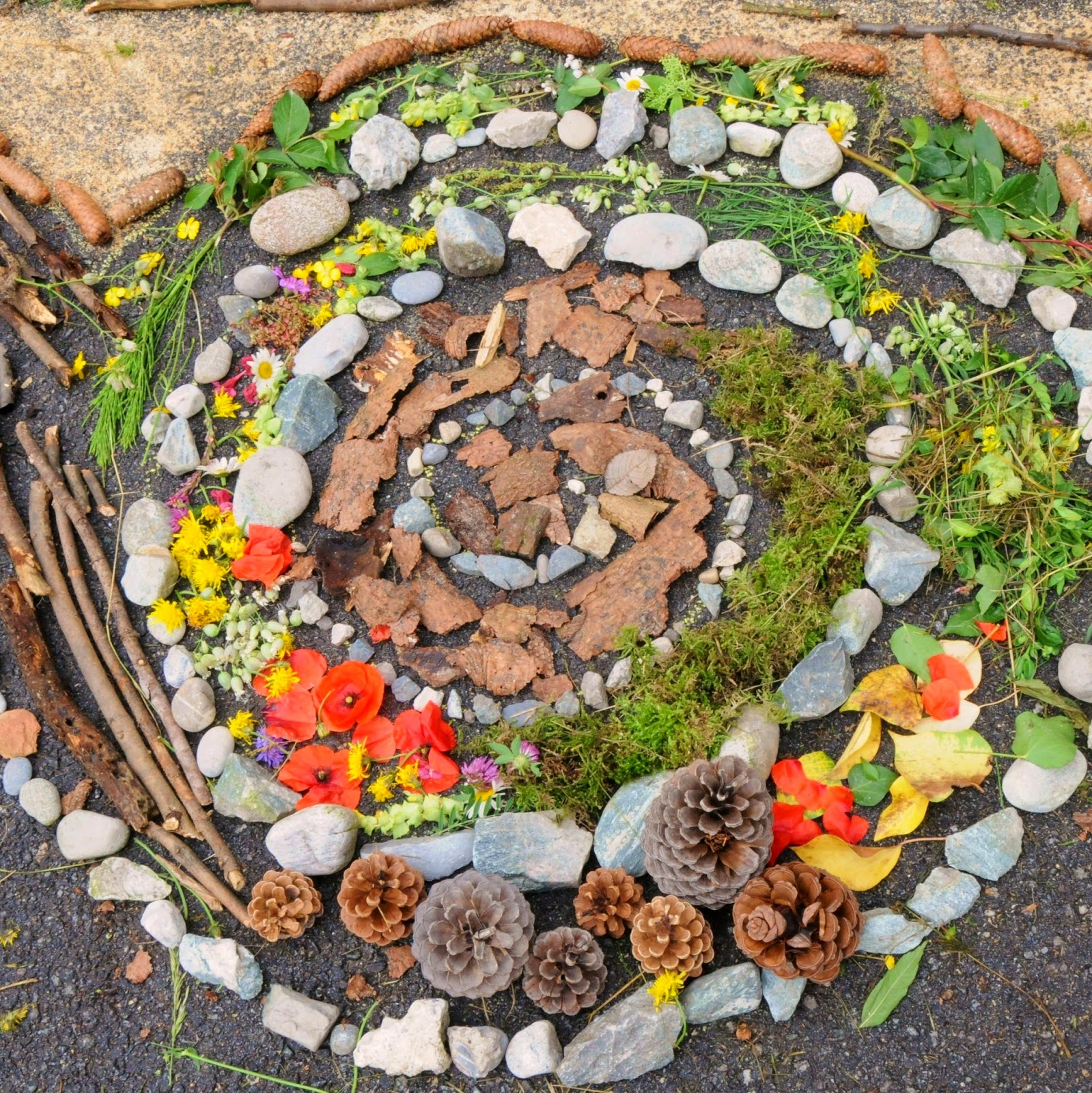 faire un land art dans la nature