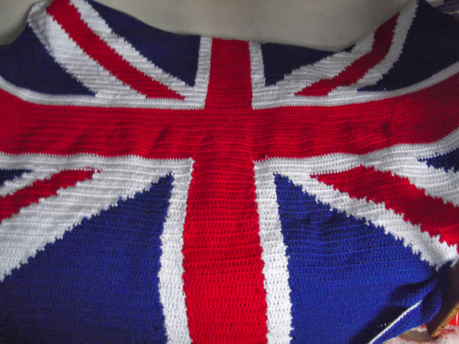 Knitting Pattern For Union Jack Blanket : Bits and Bobs Zone: union Jack Blanket
