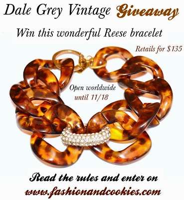 Dale Grey Vintage Giveaway - win a Reese bracelet on Fashion and Cookies