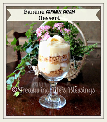 banana caramel cream dessert, dessert, recipe, banana