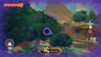 A screenshot showing off how dowsing looks while playing.