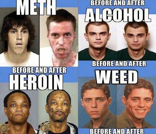 heroin marijuana alcohol effects