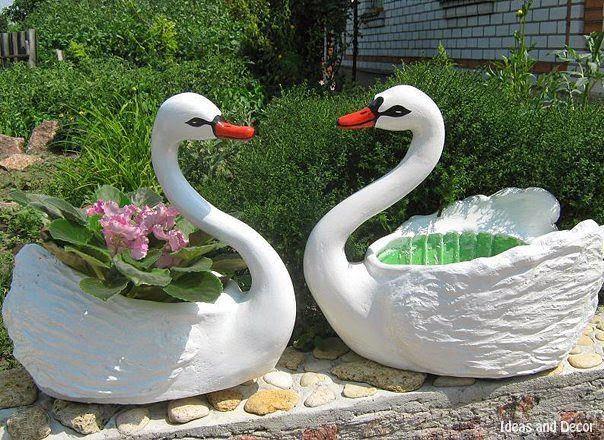Лебедь своими руками из шин