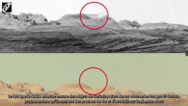 Exposé ! Bâtiment énorme sur Mars effacé de Curiosity Image
