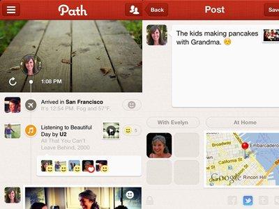 path iOS social