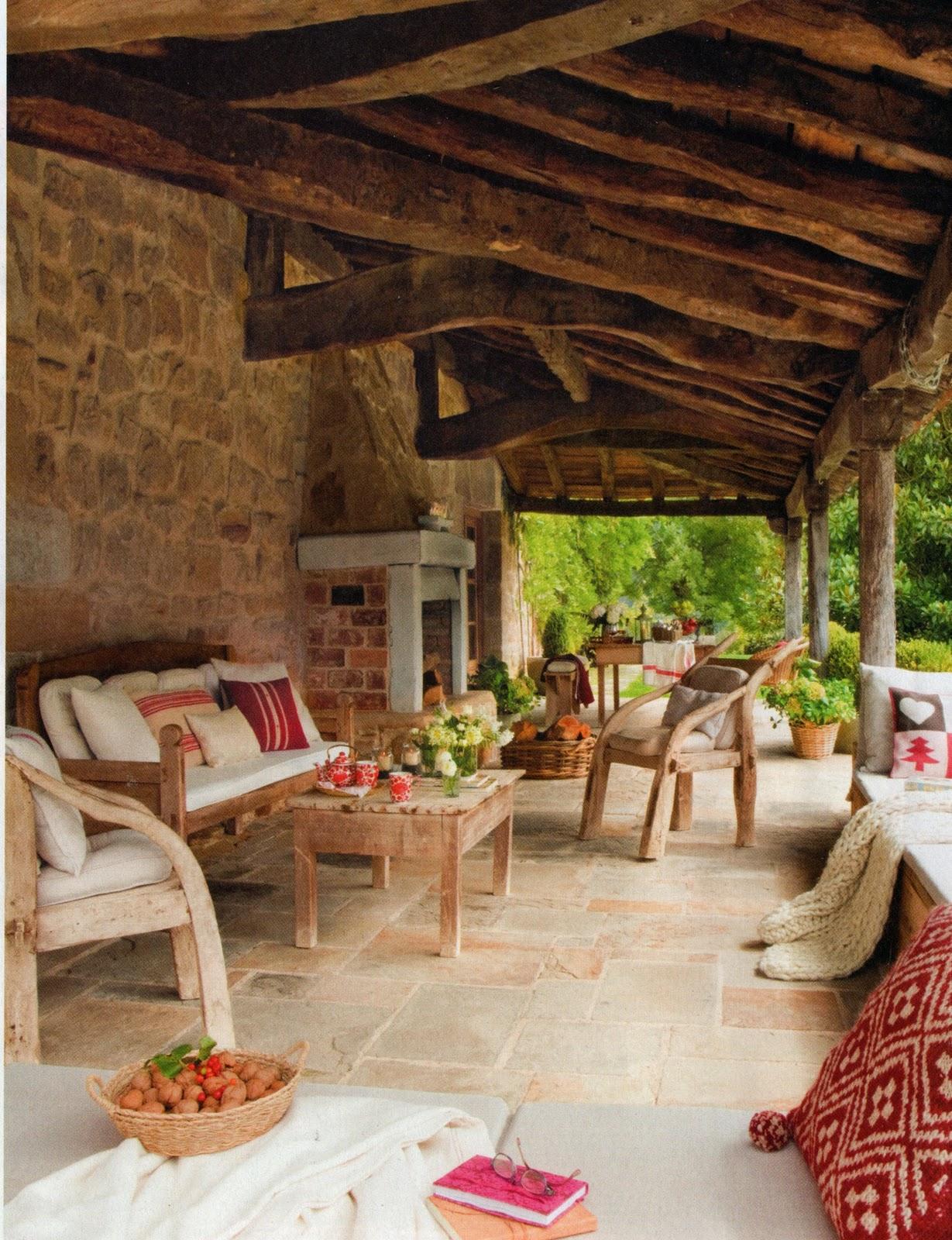 Decoraci n c mo decorar el porche de la casa de campo - Porches de casas de campo ...