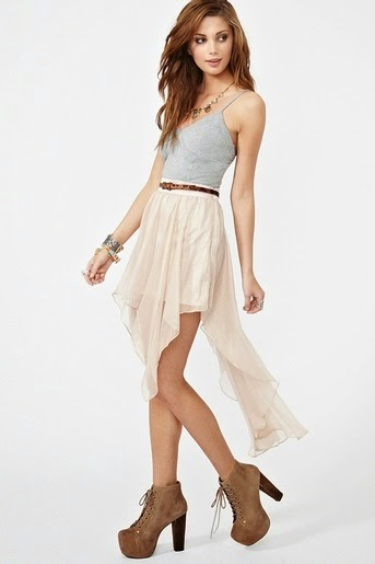 Waisted Asymmetrical Chiffon Skirt. Dreamy find more women fashion ideas on beauti woman for white dress