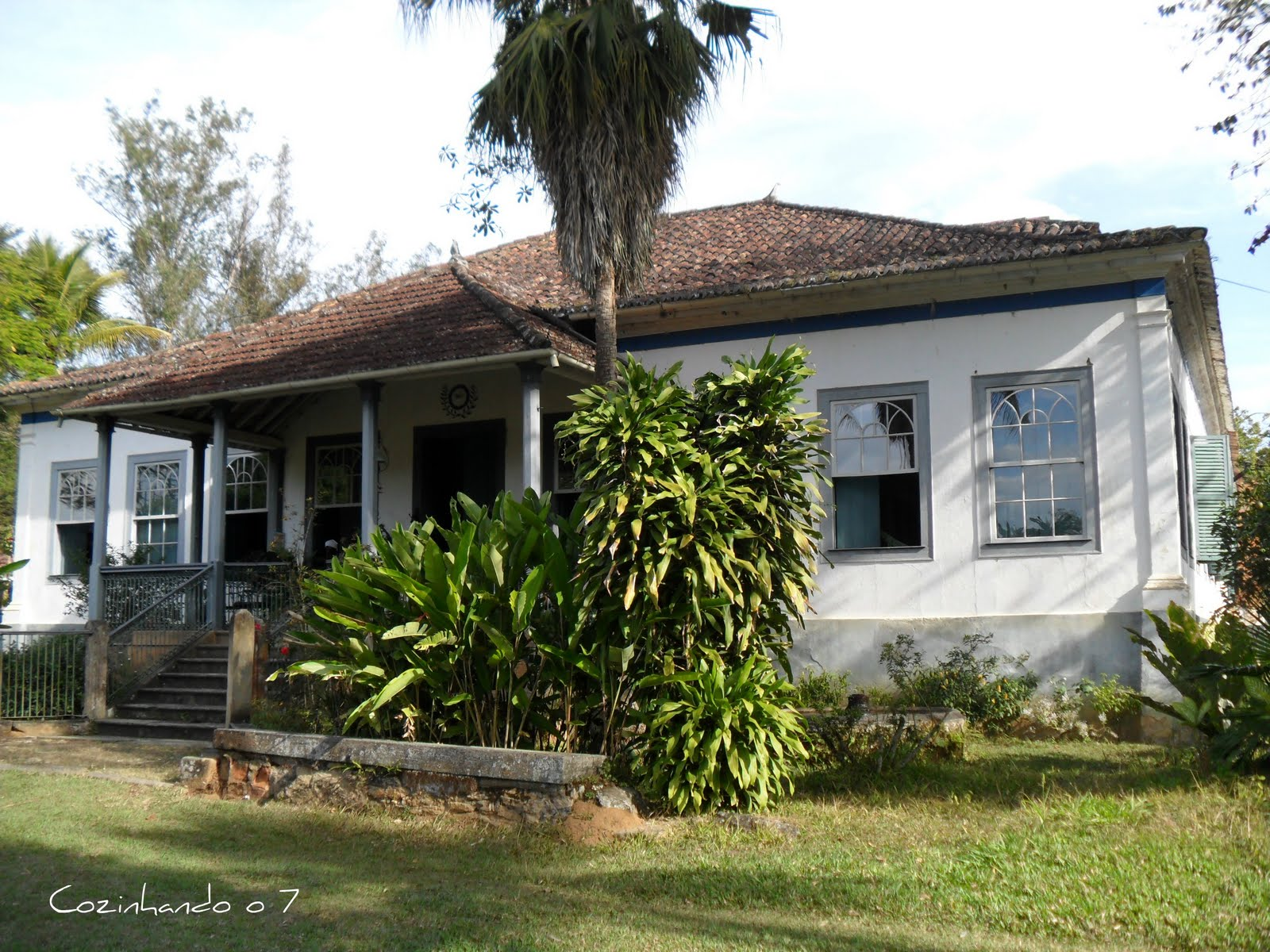 Entrada principal da sede da Fazenda dos Coqueiros Ela foi usada  #4C5C26 1600 1200