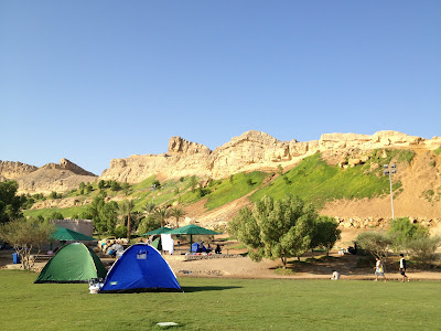 The Green Mubazzarah camp site