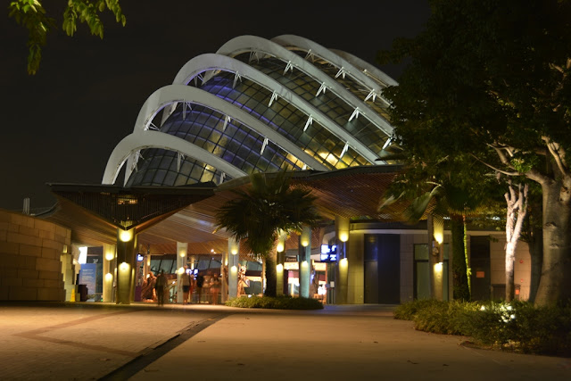 Gardens by the Bay at night dome