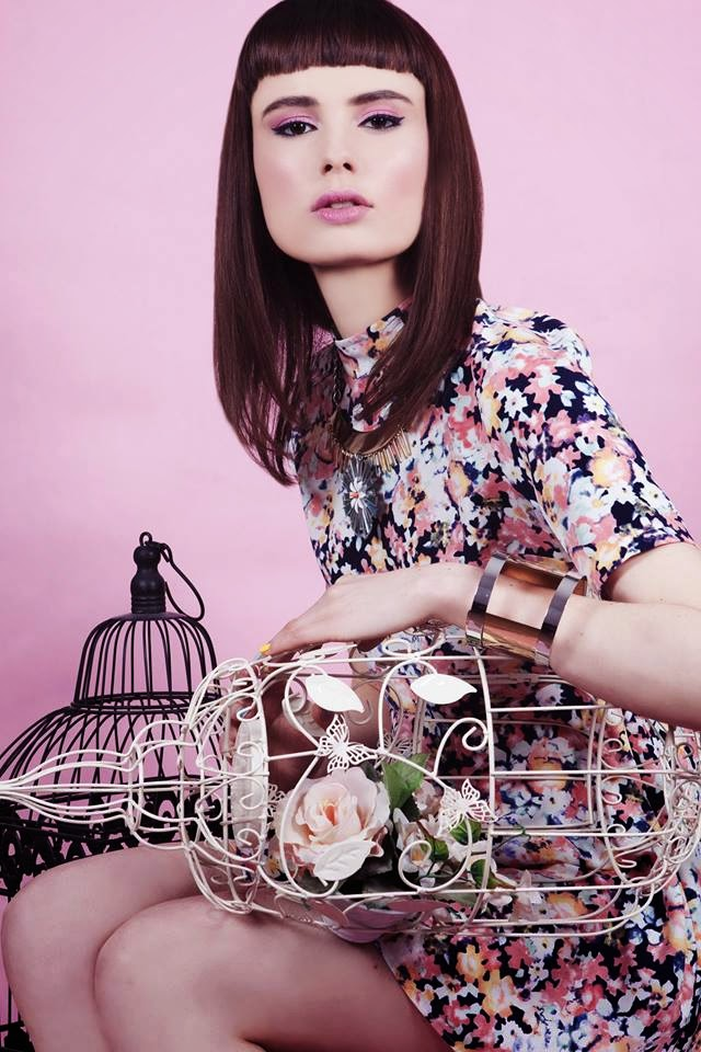 SS/14 shoot for Trend magazine featuring pretty florals and birdcages