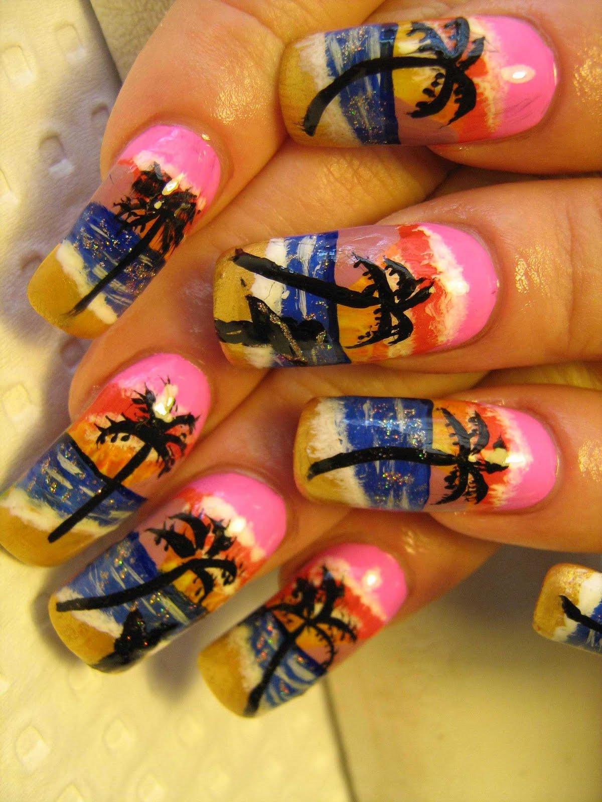 Фото модного рисунка на ногтях
