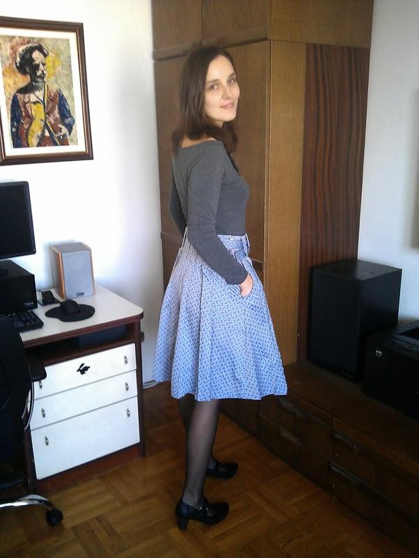 Stepalica Patterns: Zlata skirt - pattern testing, Mira