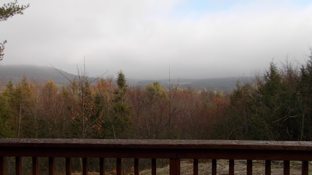 Vue paysage Adirondaks montagne forêt