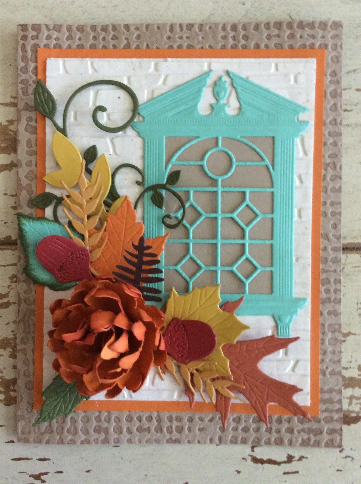 Janmade Cards Ac221 Thanksgiving Card Fall Door Card Paper Card