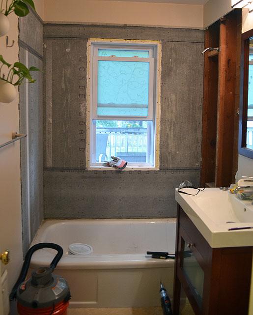 Cement Board Bathroom : Mid century mrs tub surround cement board waterproofing
