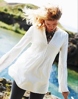Model Michelle Buswell Garnet Hill Photoshoot