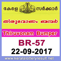 Thiruvonam Bumper Result 2017
