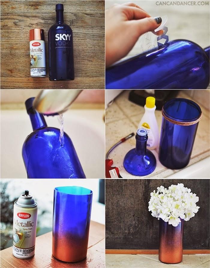 Diy vase from a bottle goodiy for Glass cutter to make glasses from bottles