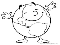 Earth Day Coloring Pictures For Kids Printable