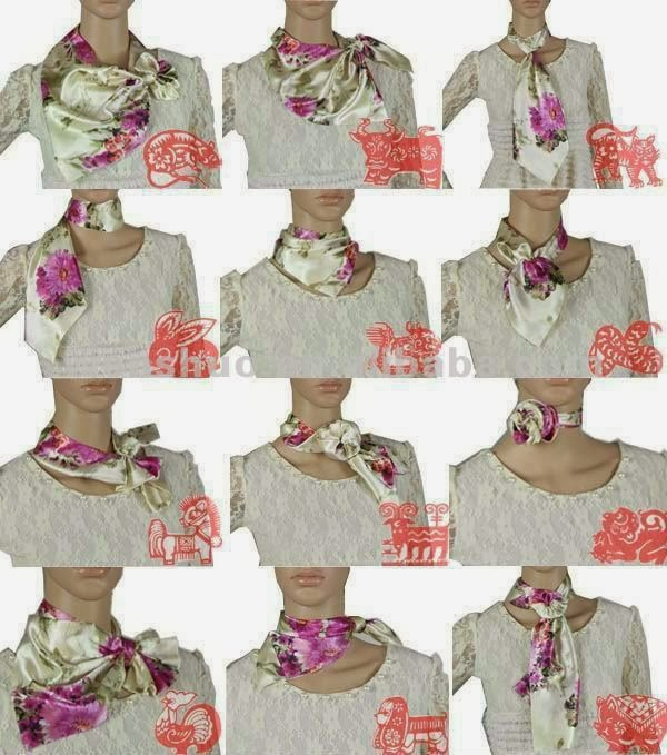 Easy Ways Bow Scarf - New Style Satin Striped Magic Scarf