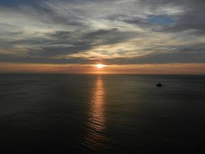 Coucher de soleil à Fisterra.