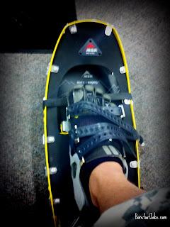 minimal footwear snowshoe