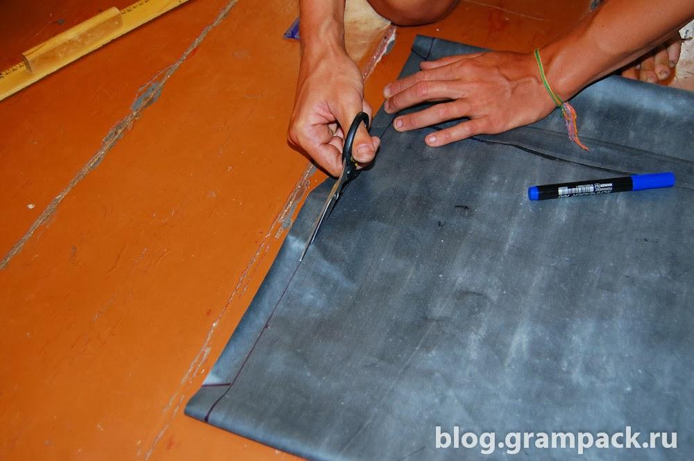 Как сделать ткань прорезиненной 579